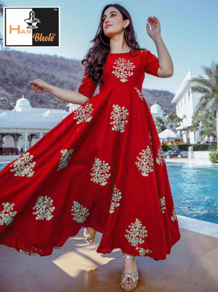 New designer Foil Printed Gown Collection collection 3