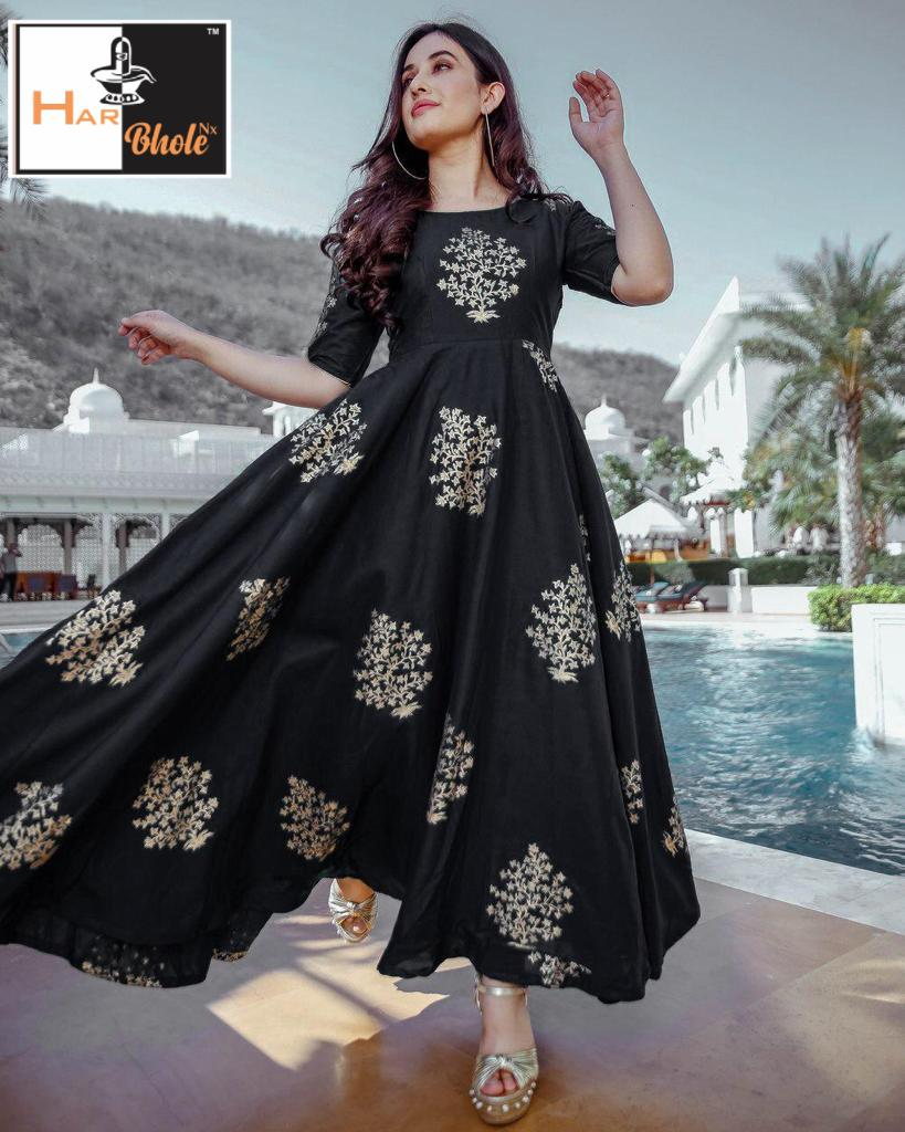 New designer Foil Printed Gown Collection collection 5