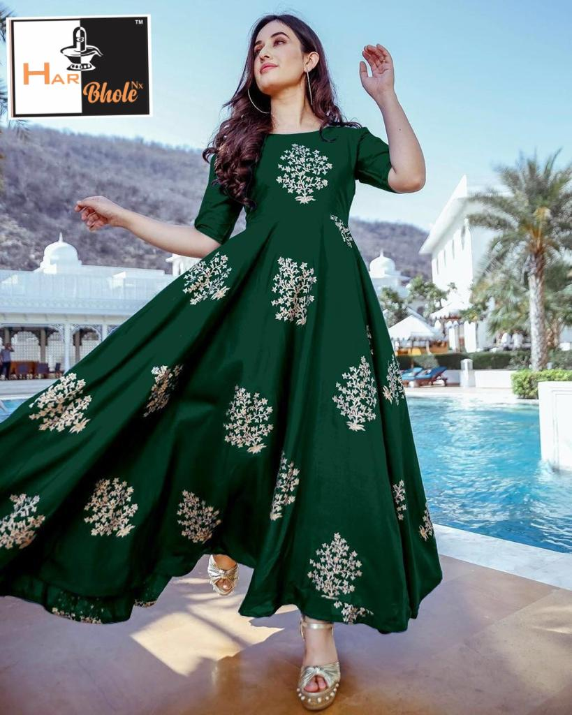 New designer Foil Printed Gown Collection collection 2