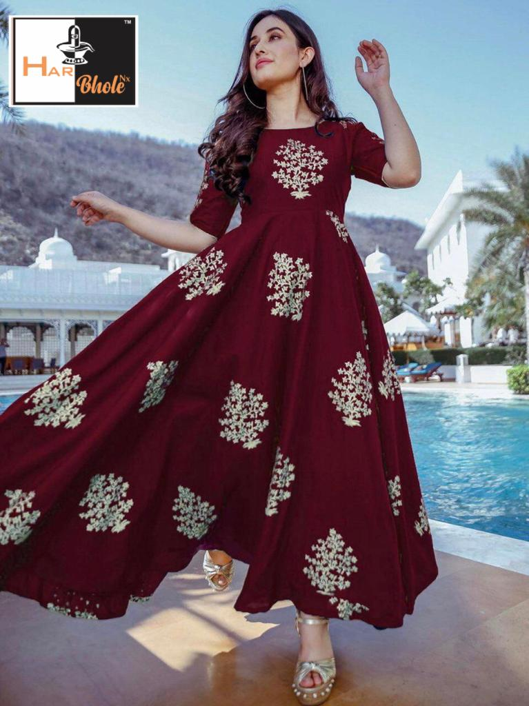 New designer Foil Printed Gown Collection collection 1