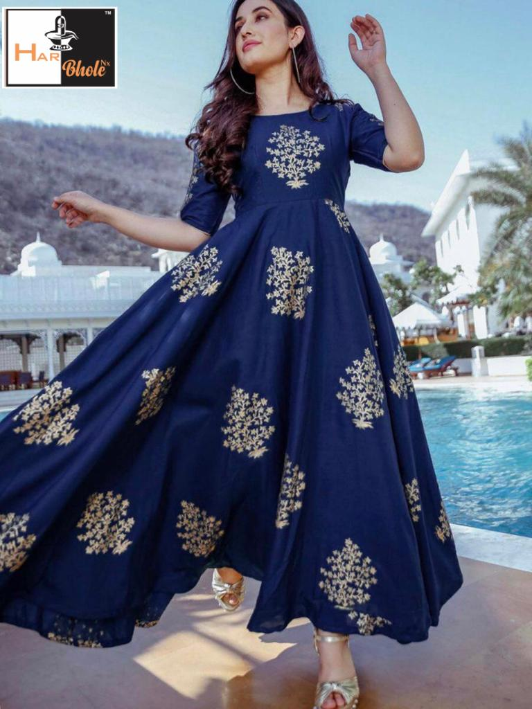New designer Foil Printed Gown Collection collection 4