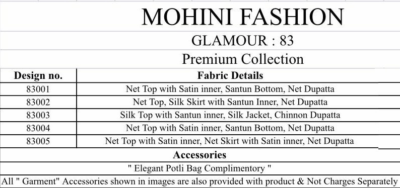 Mohini Glamour 83 collection 1