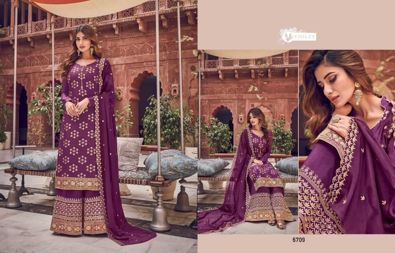 Swagat violet 6701 collection 9