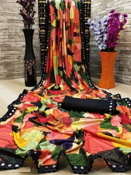 New Exclusive Lycra Blend Saree Collection collection 1