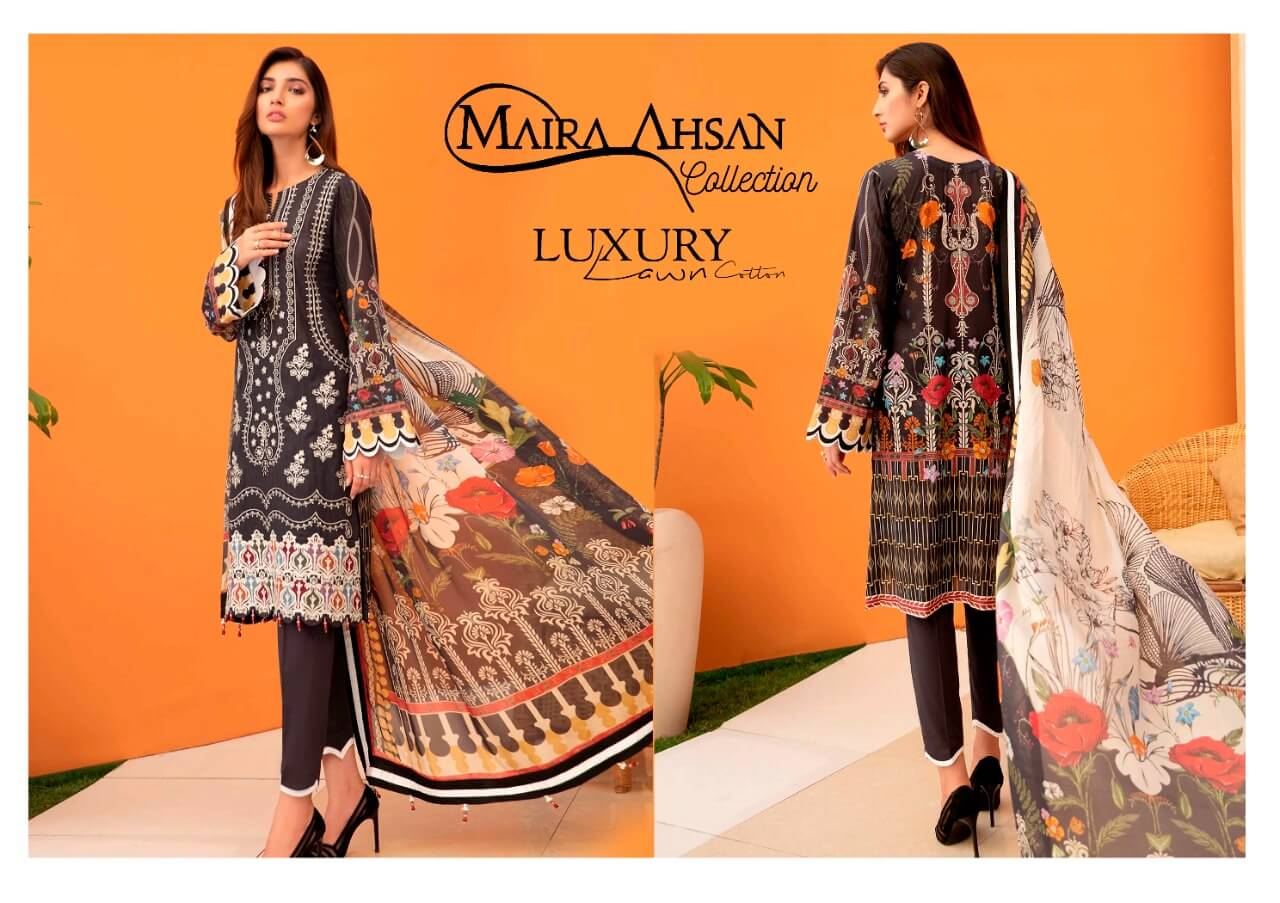 Maira Ahsan Luxury Lawn collection 7