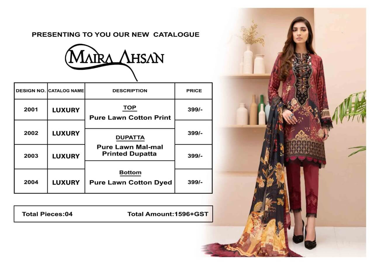 Maira Ahsan Luxury Lawn collection 10