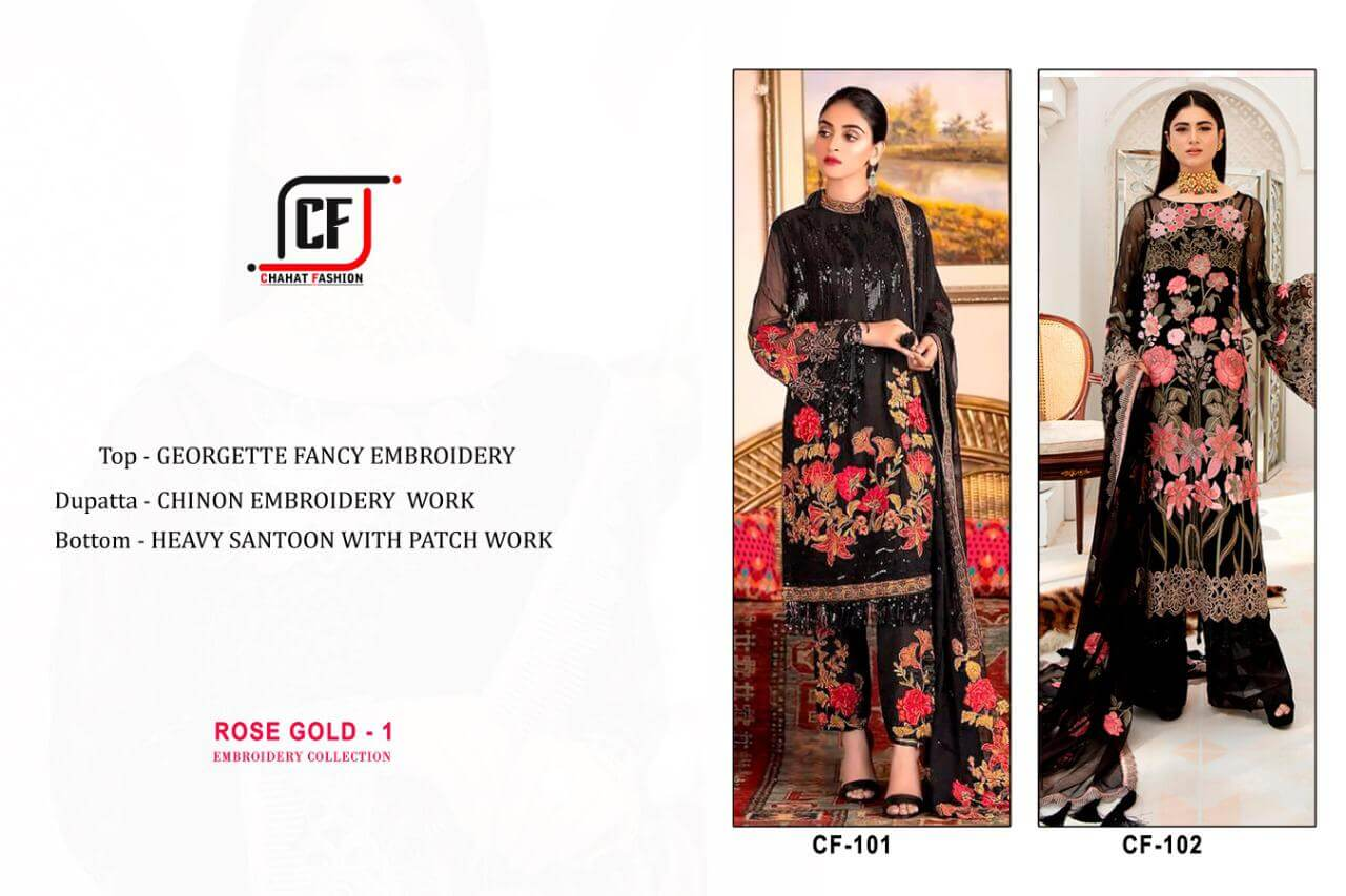 Chahat Fashion Rose Gold Vol 01 collection 3
