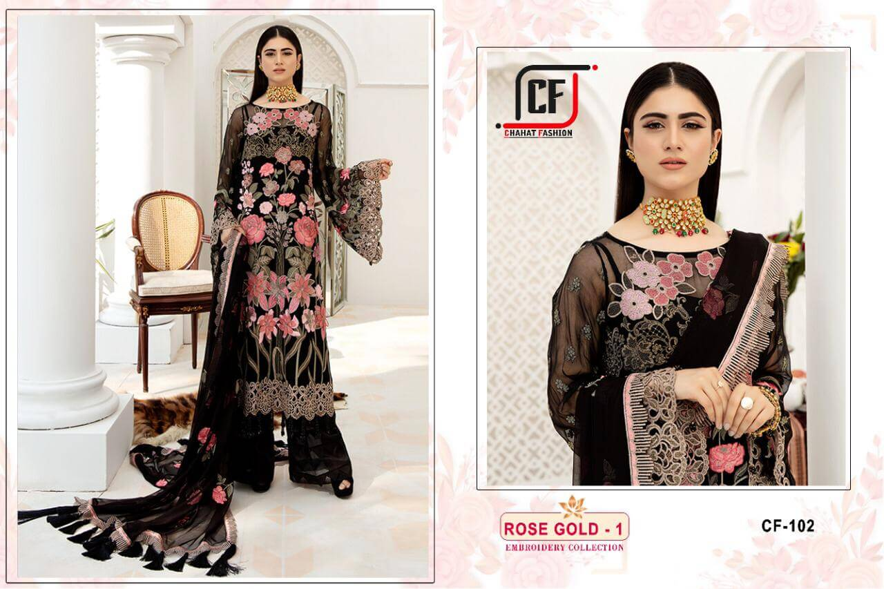 Chahat Fashion Rose Gold Vol 01 collection 1