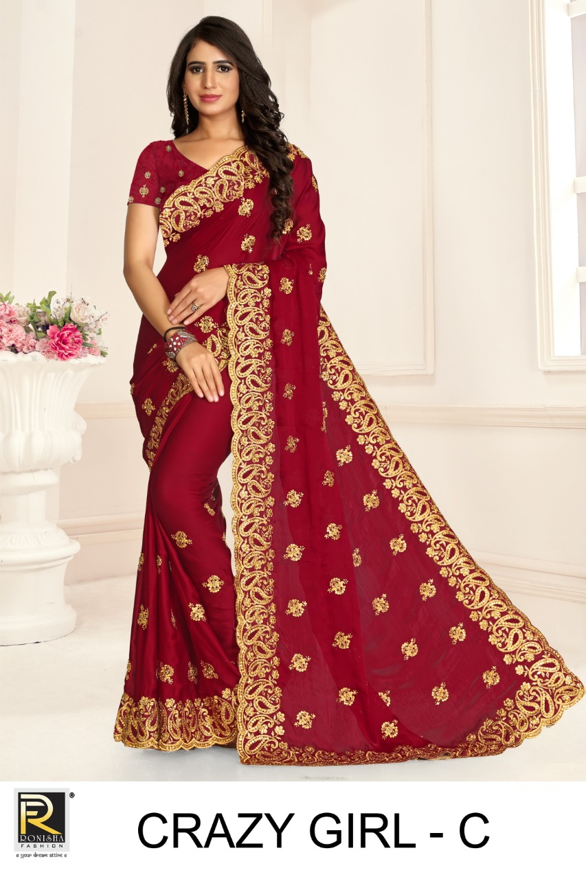Ronisha Crazy Girl Designer Embroidery collection 1