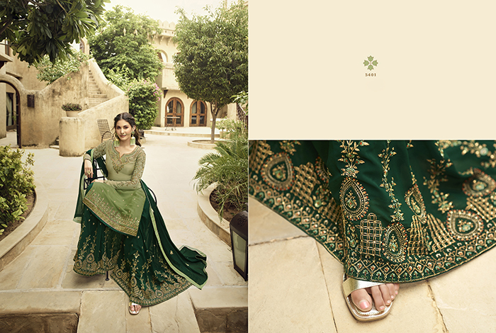 Glossy 5400 Georgette Embroidery Designer collection 12