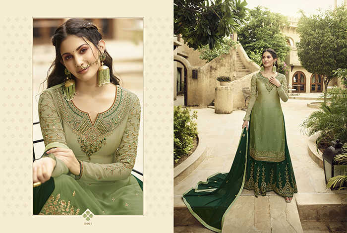 Glossy 5400 Georgette Embroidery Designer collection 8