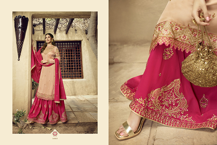Glossy 5400 Georgette Embroidery Designer collection 10