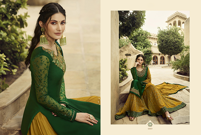 Glossy 5400 Georgette Embroidery Designer collection 9