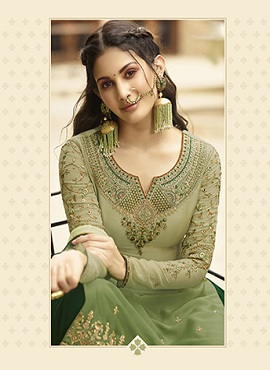 Glossy 5400 Georgette Embroidery Designer collection 15