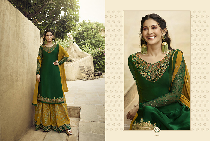 Glossy 5400 Georgette Embroidery Designer collection 13