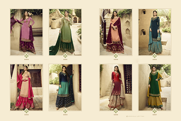 Glossy 5400 Georgette Embroidery Designer collection 2