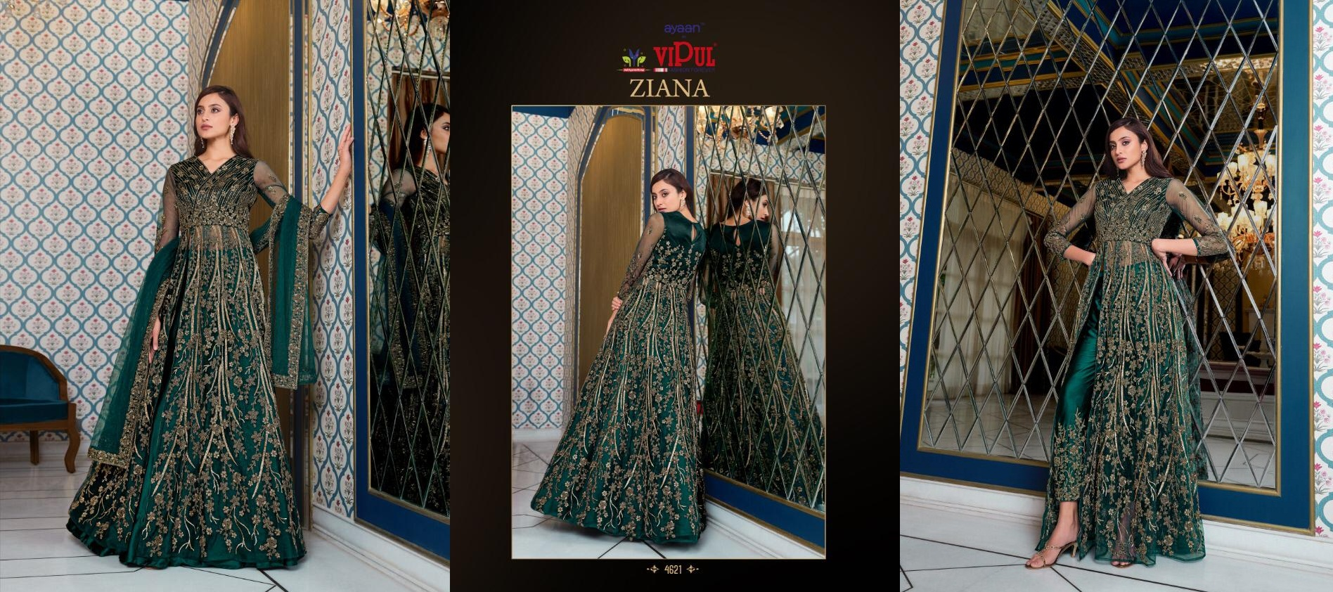 Vipul Ziana 4621 Series Heavy Wedding collection 9