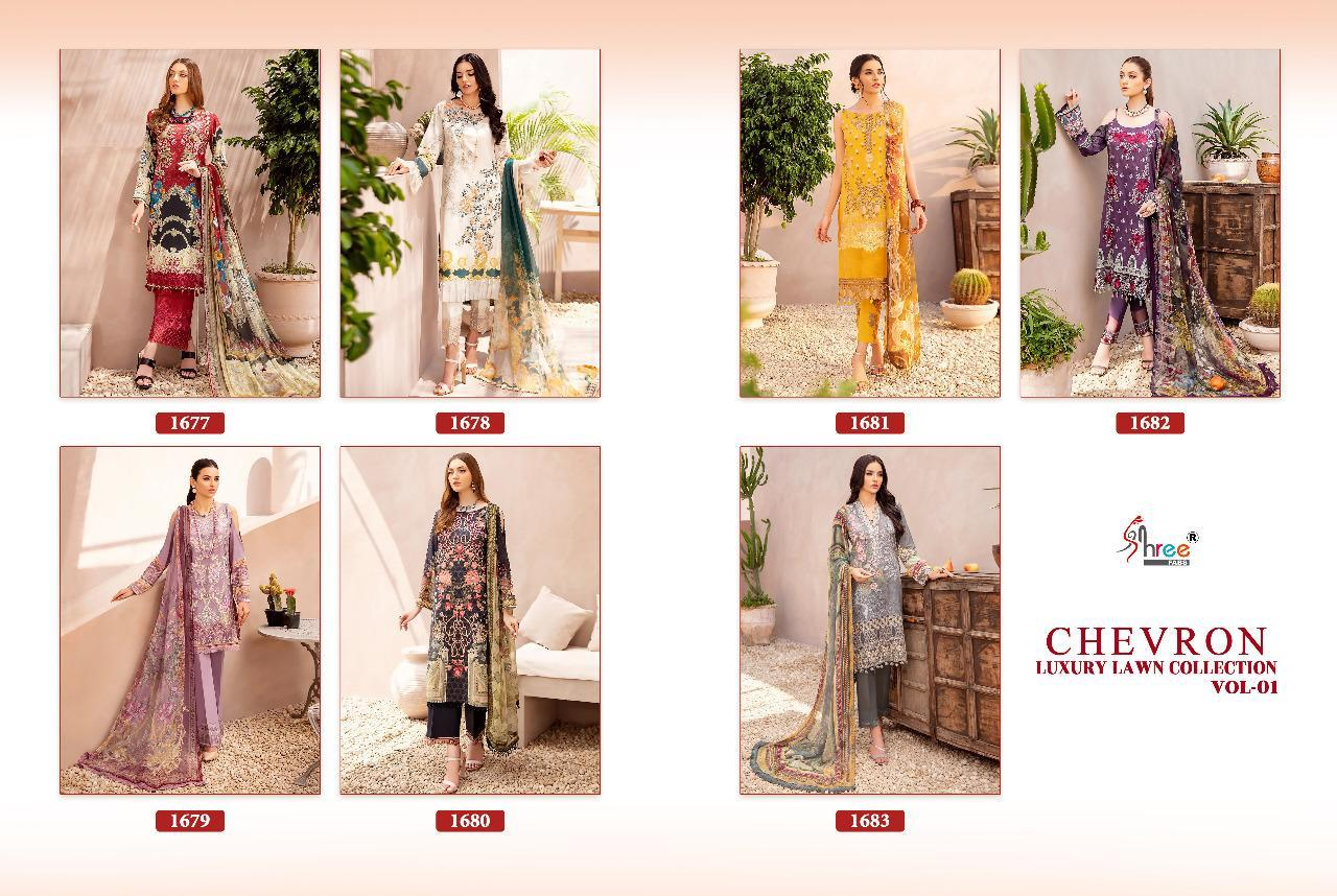 Shree Chevron Luxury Lawn Collection 1 collection 1