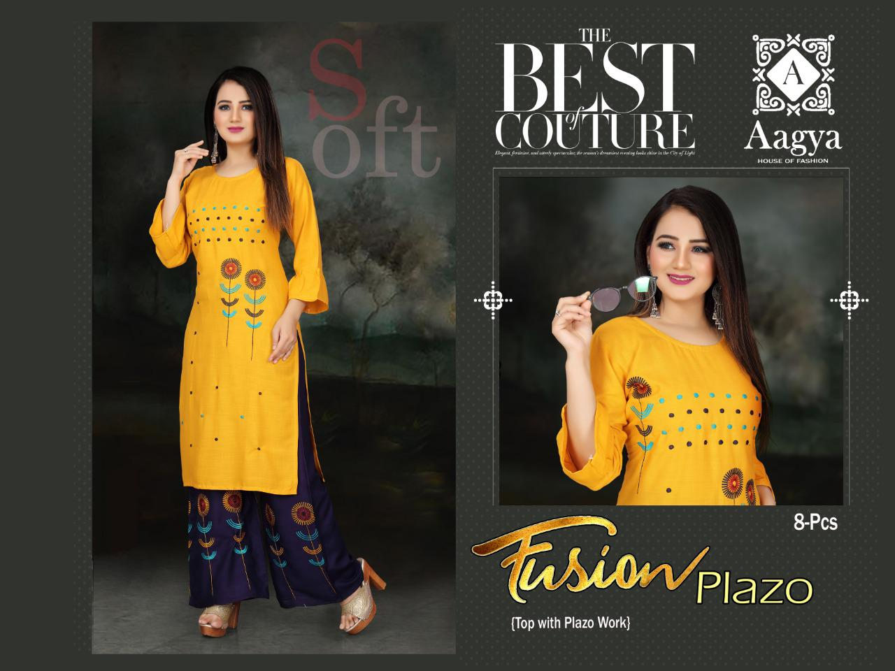 Aagya Fusion Plazzo Fancy Casual Wear collection 4