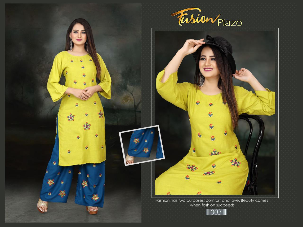 Aagya Fusion Plazzo Fancy Casual Wear collection 8