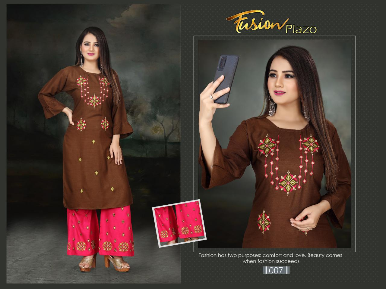 Aagya Fusion Plazzo Fancy Casual Wear collection 1