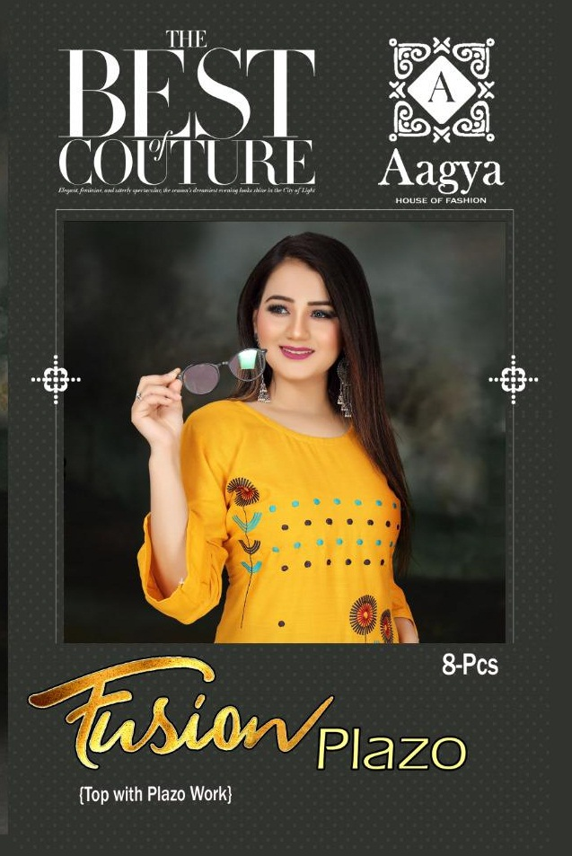 Aagya Fusion Plazzo Fancy Casual Wear collection 9
