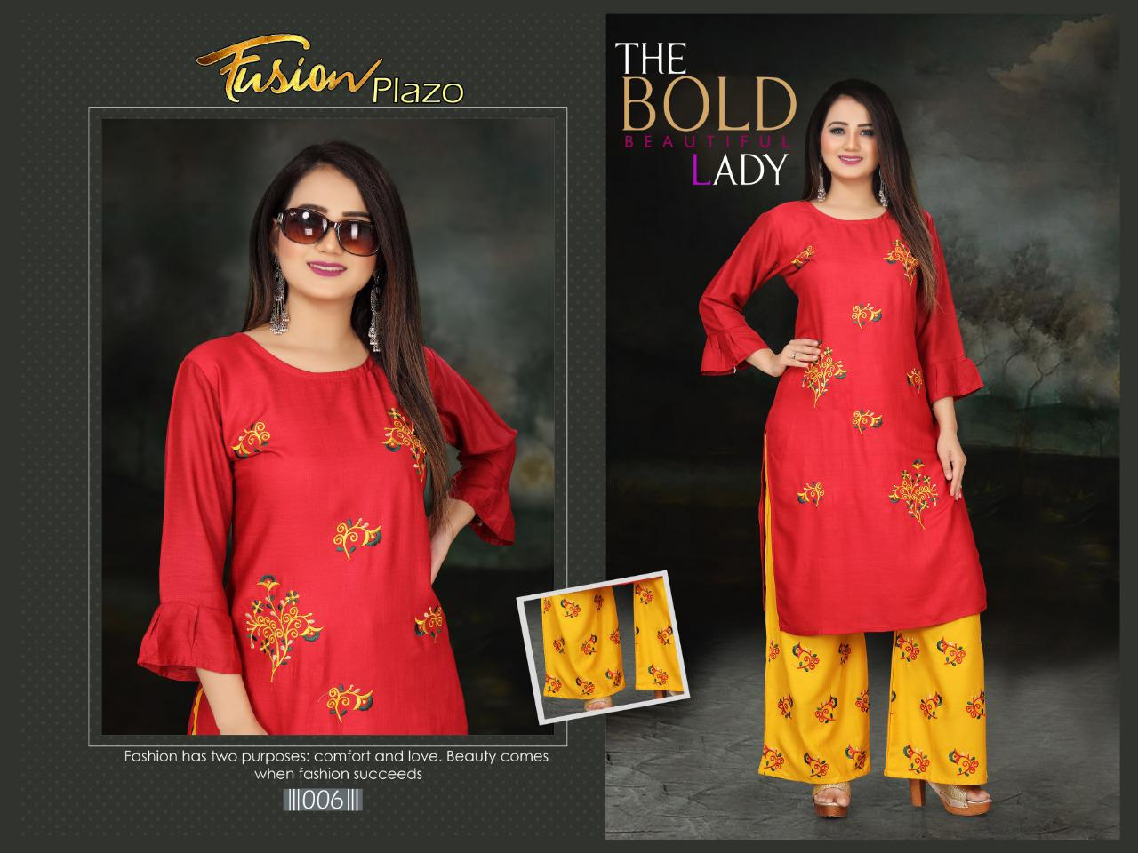Aagya Fusion Plazzo Fancy Casual Wear collection 3