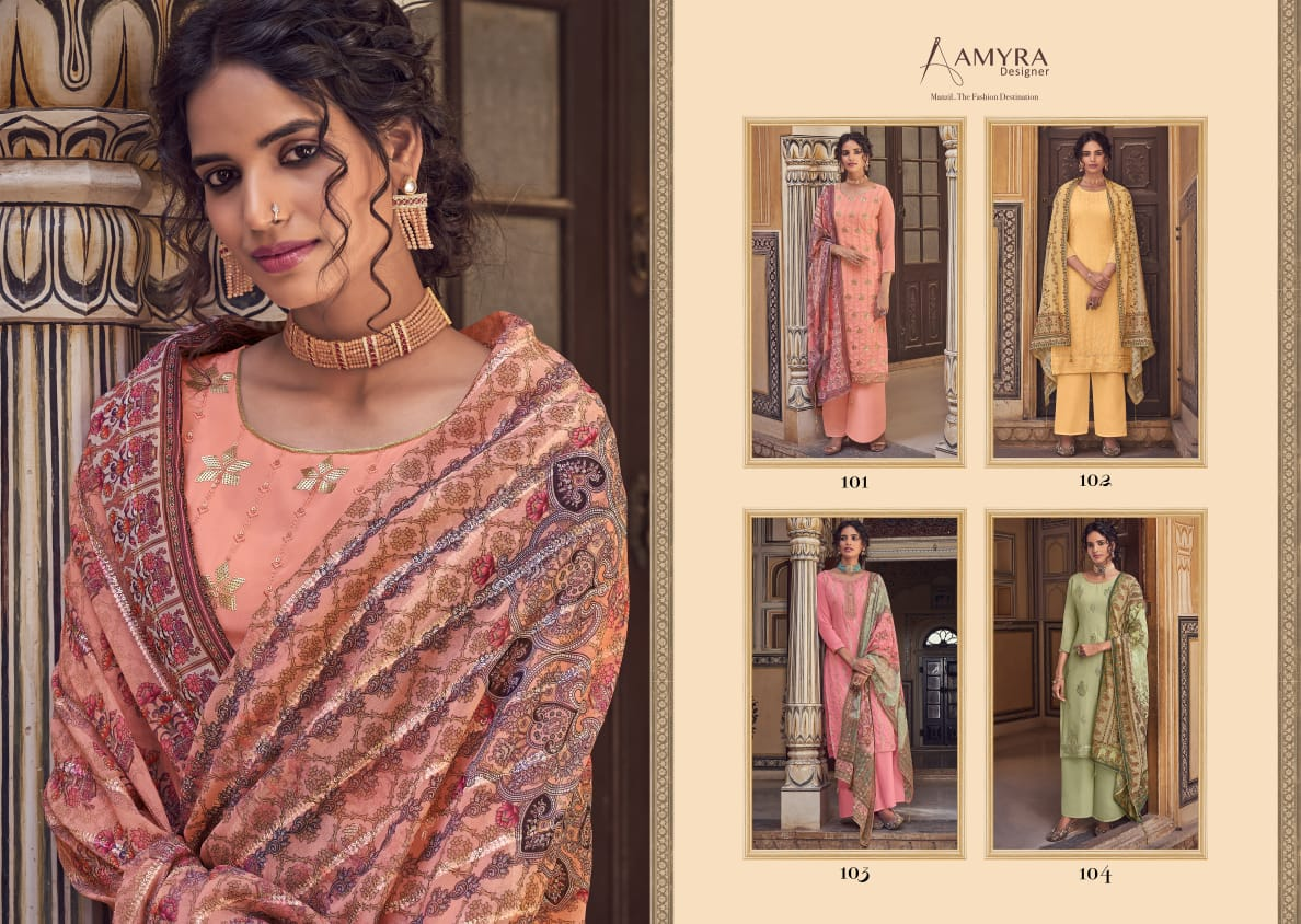 Amyra Designer Libaas Real Georgette collection 1