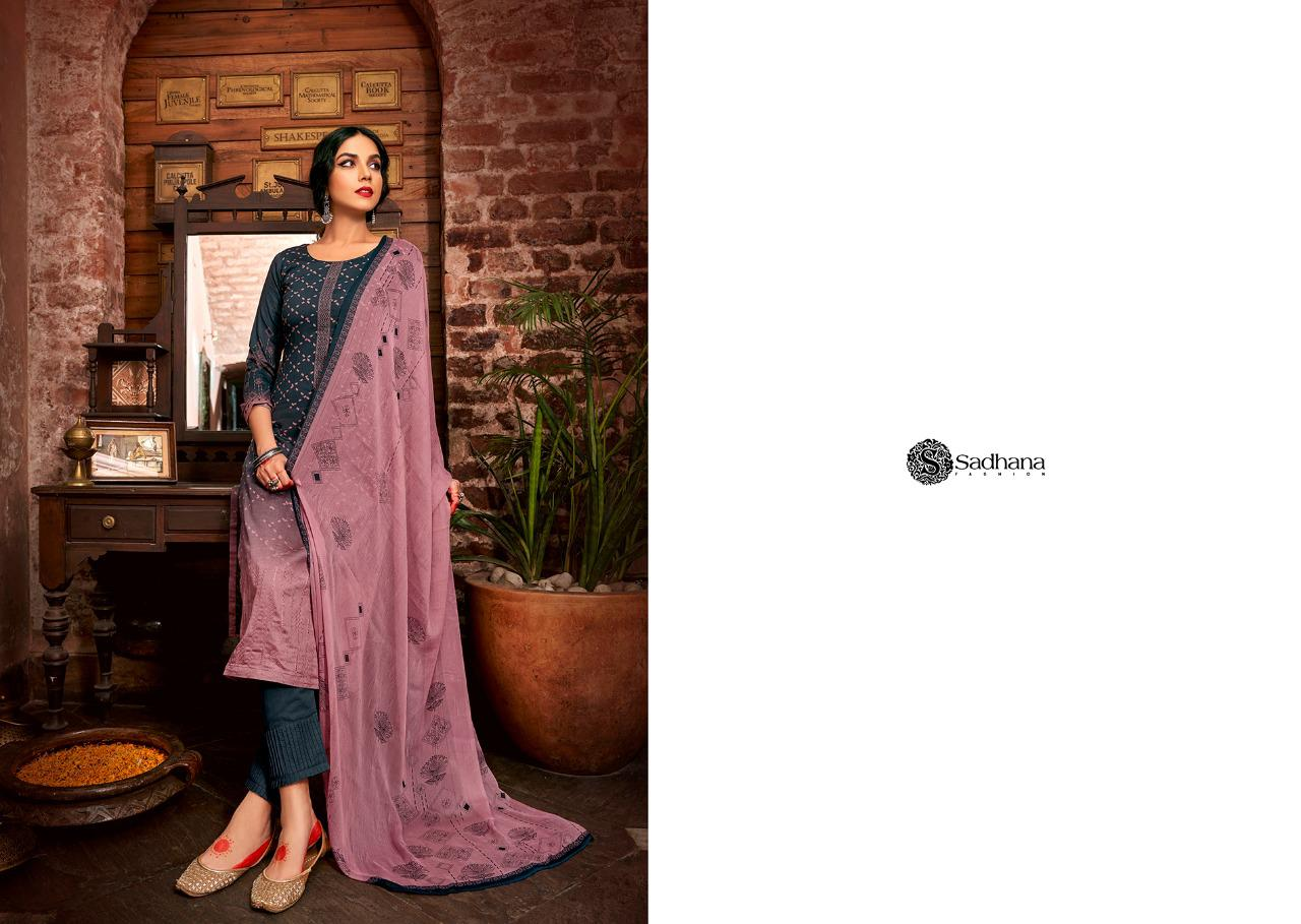 Sadhana Vol 35 With Embroidery Work collection 4