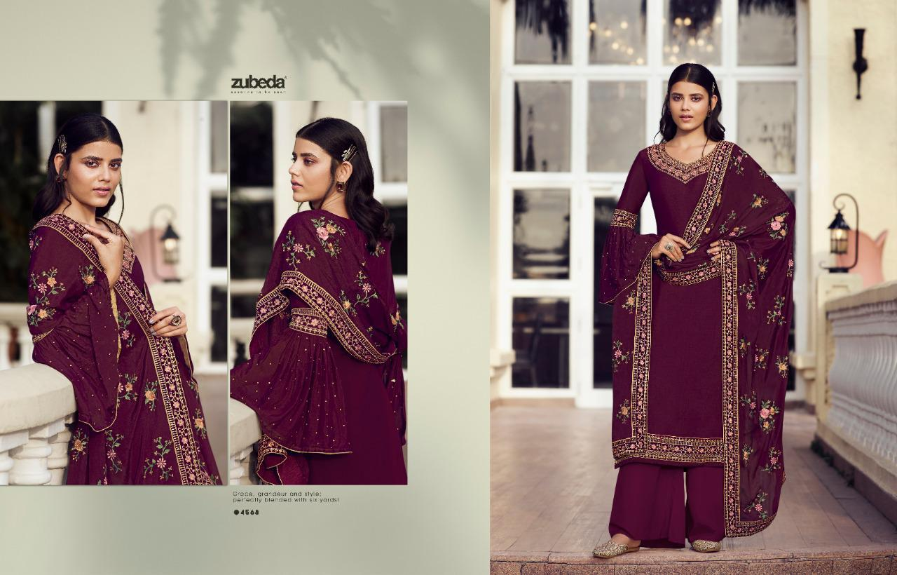 Zubeda Avani Chinon With Embroider collection 4