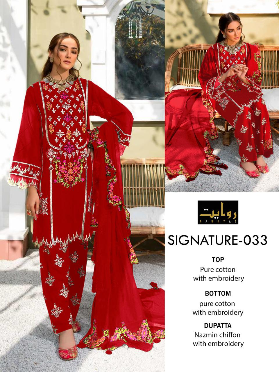 Rawayat Signature Cotton Embroidered collection 2