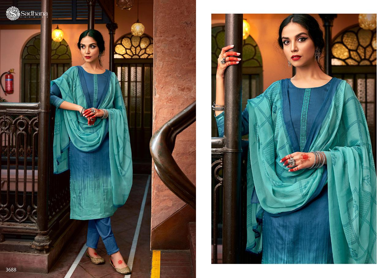 Sadhana Vol 35 With Embroidery Work collection 11