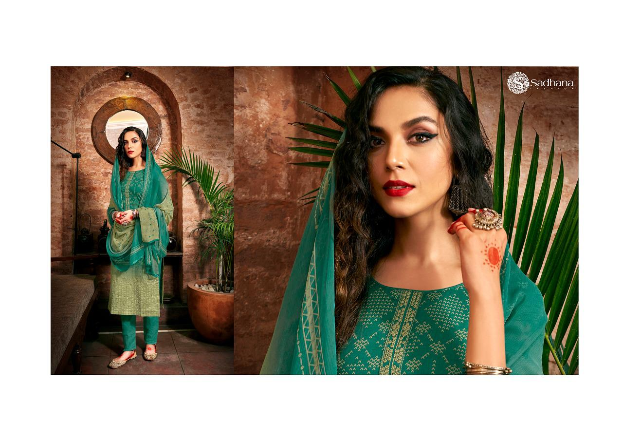 Sadhana Vol 35 With Embroidery Work collection 20