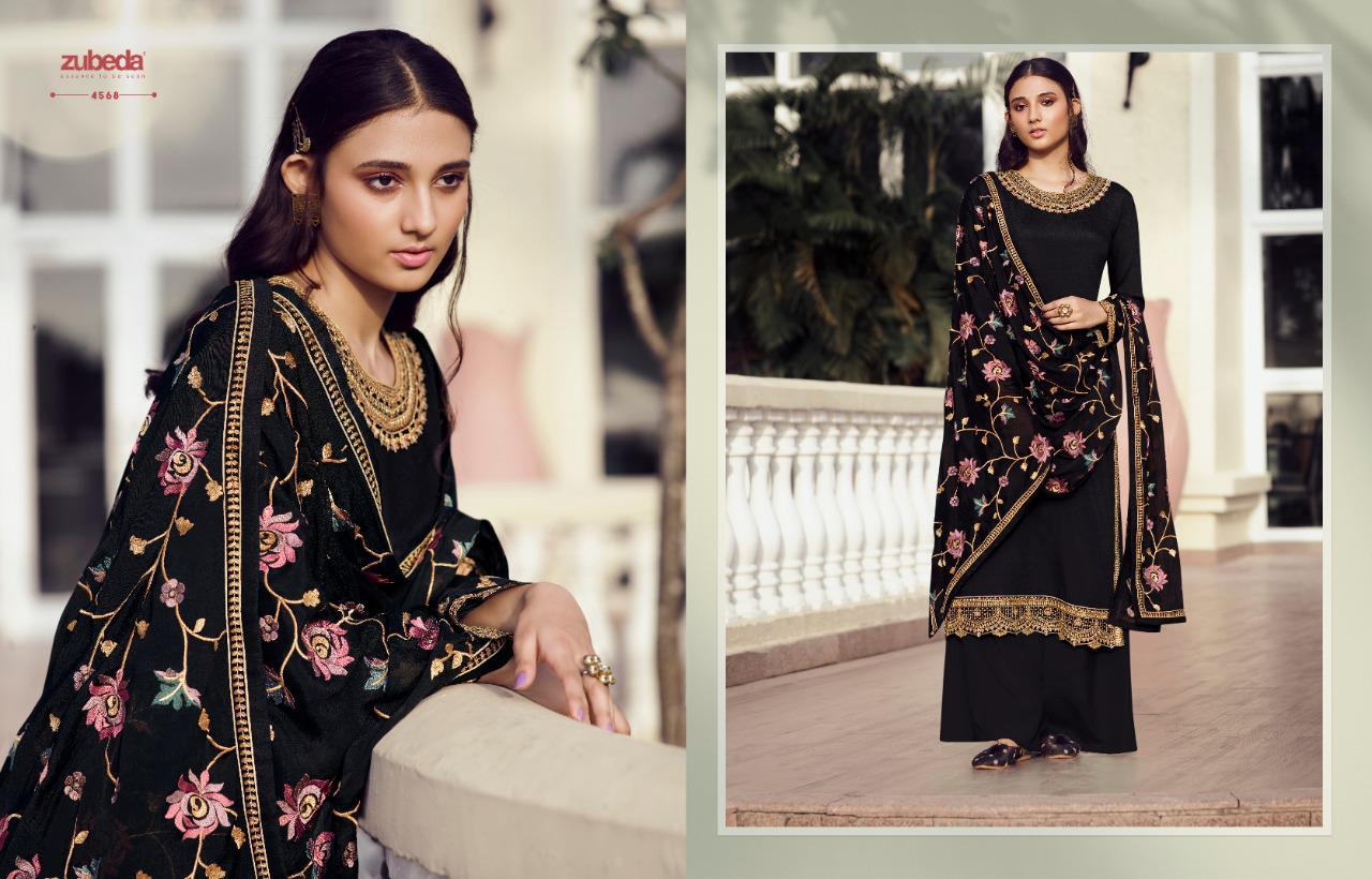 Zubeda Avani Chinon With Embroider collection 7