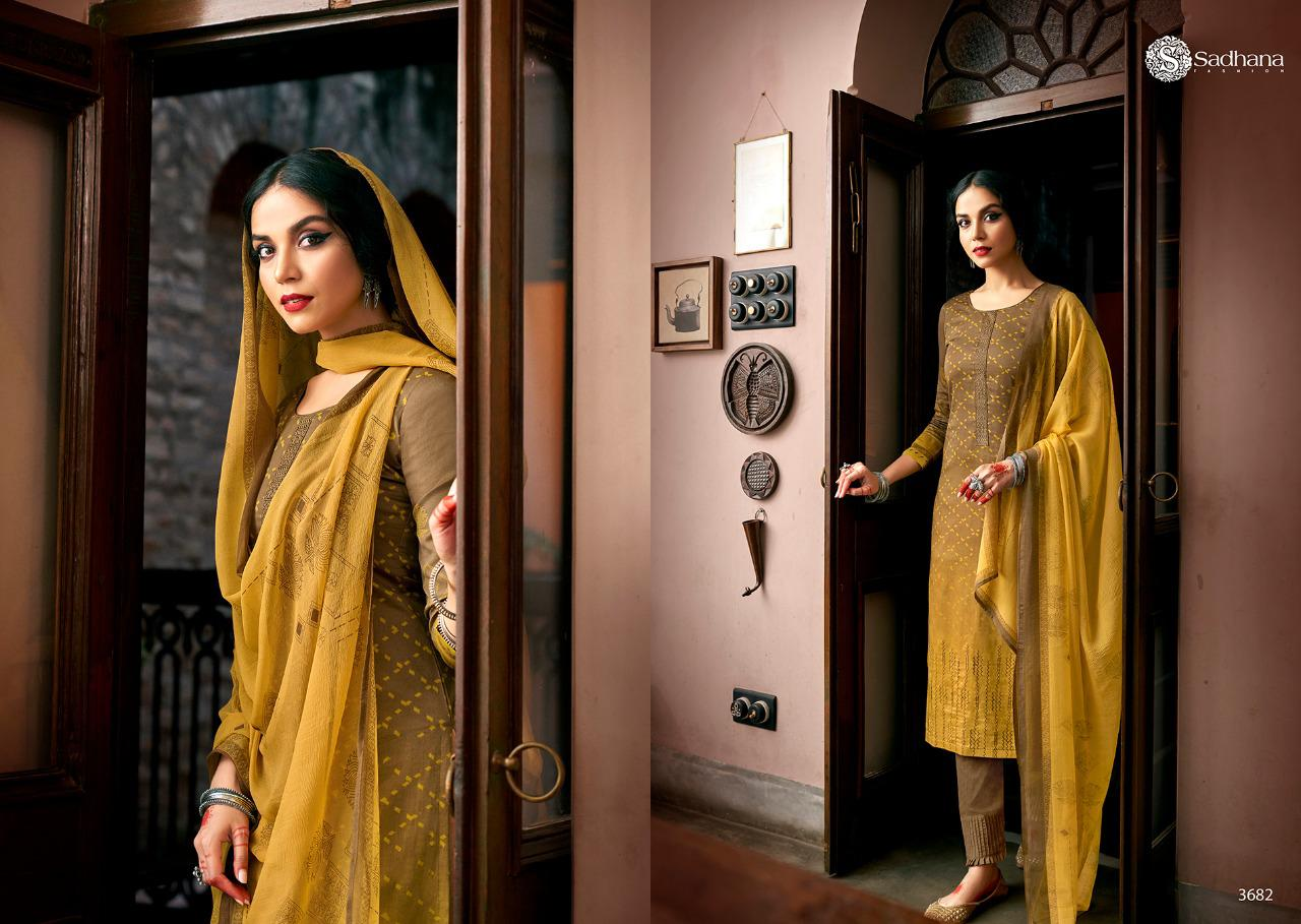 Sadhana Vol 35 With Embroidery Work collection 16