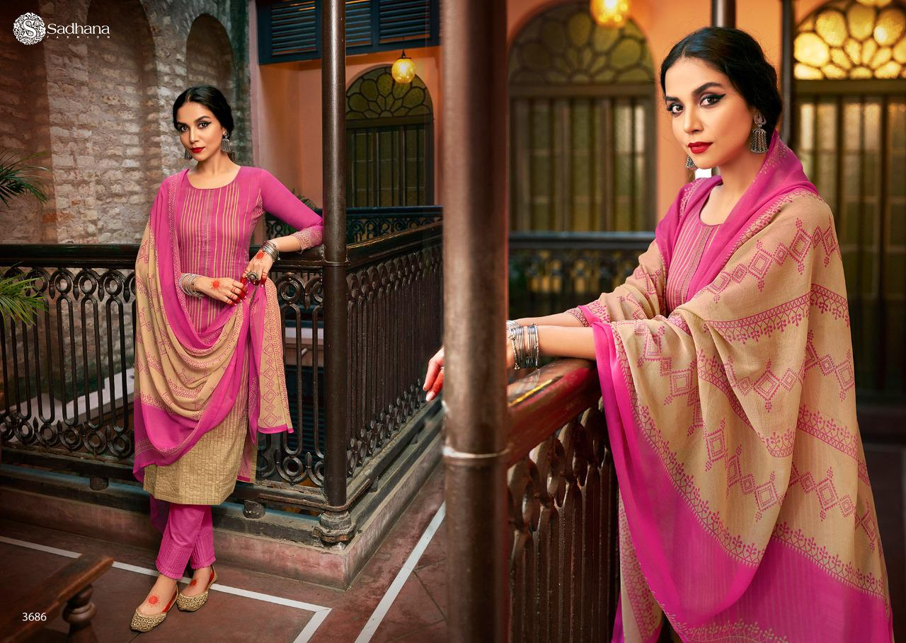 Sadhana Vol 35 With Embroidery Work collection 5