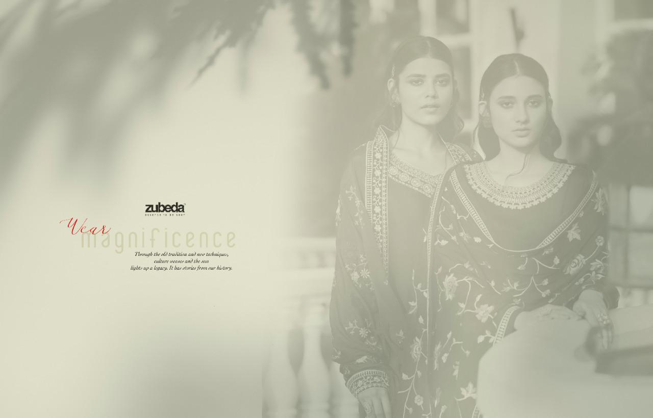 Zubeda Avani Chinon With Embroider collection 11