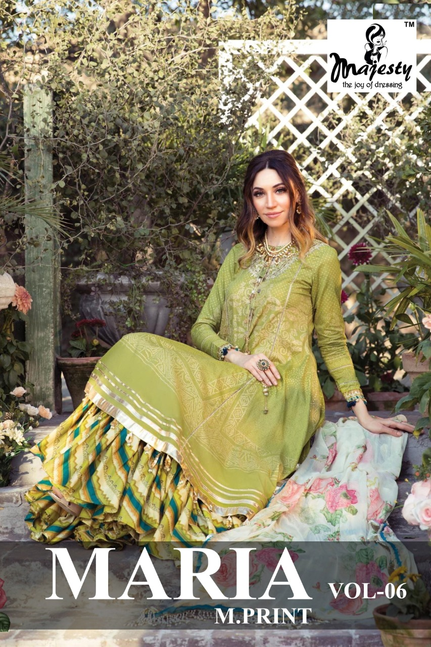 Majesty Maria M Print Vol 6 Lawn collection 3