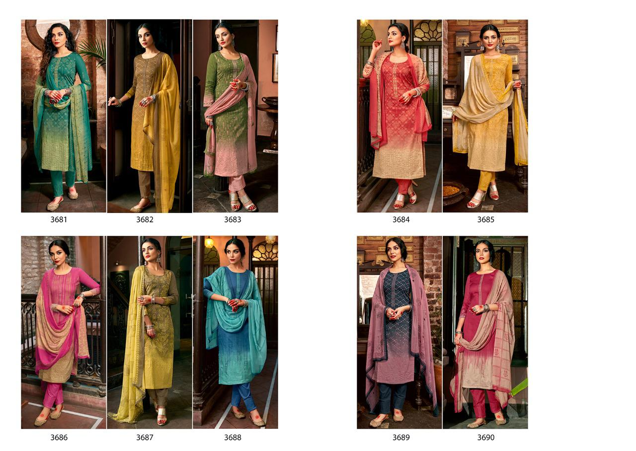 Sadhana Vol 35 With Embroidery Work collection 10