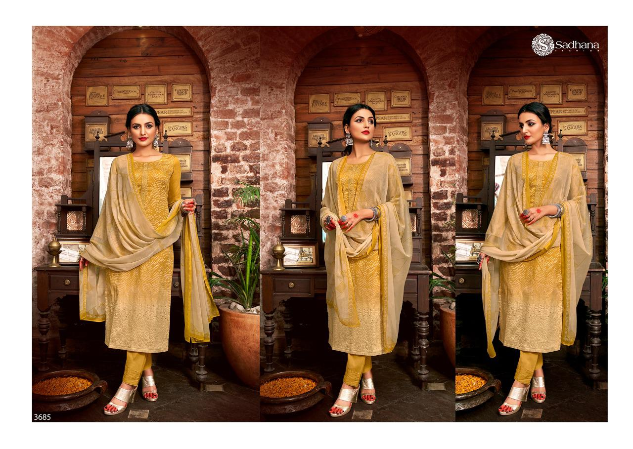 Sadhana Vol 35 With Embroidery Work collection 2