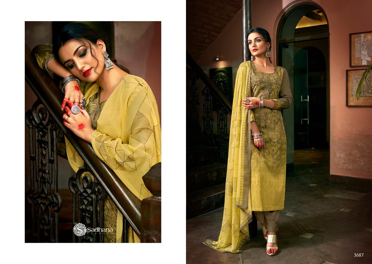 Sadhana Vol 35 With Embroidery Work collection 7
