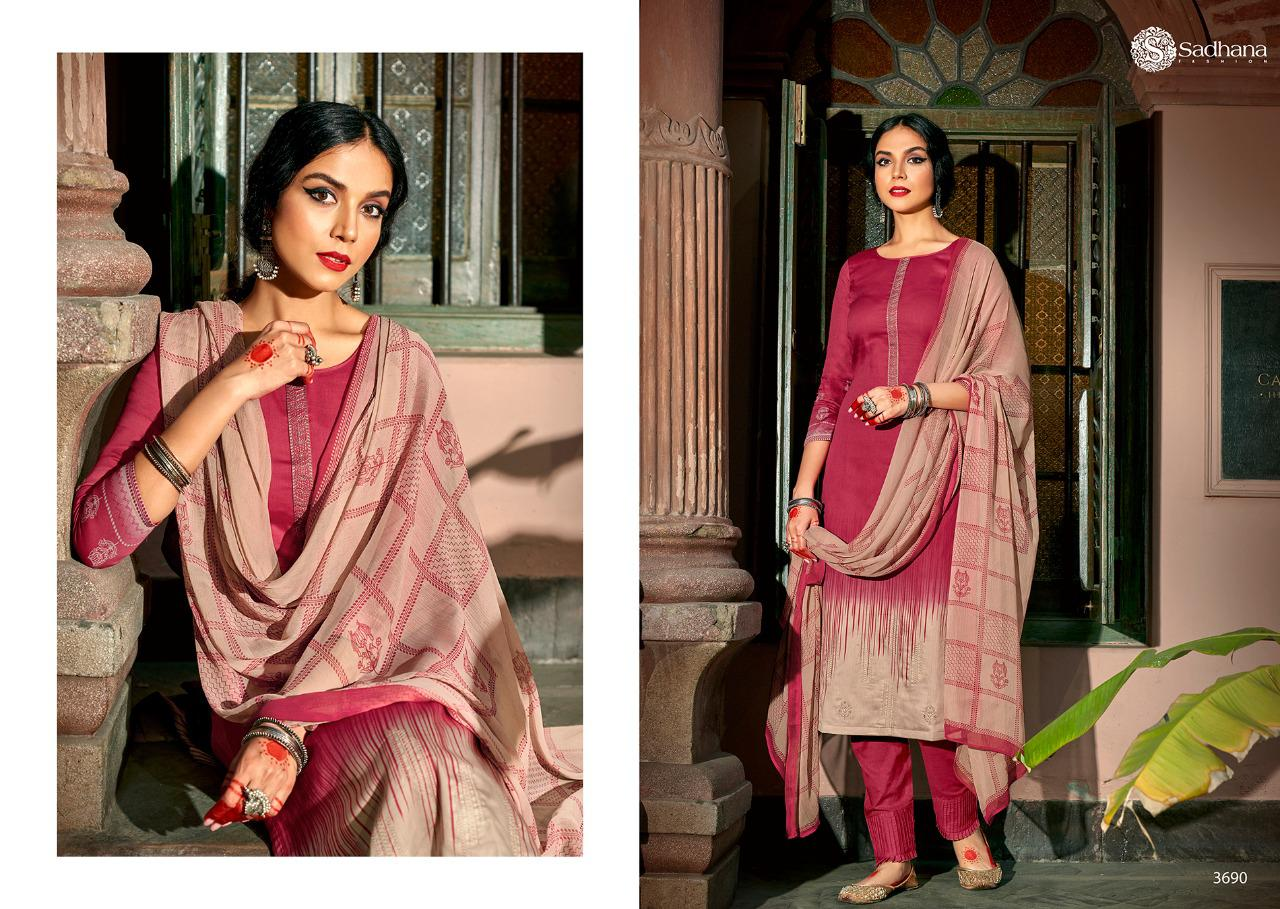 Sadhana Vol 35 With Embroidery Work collection 1