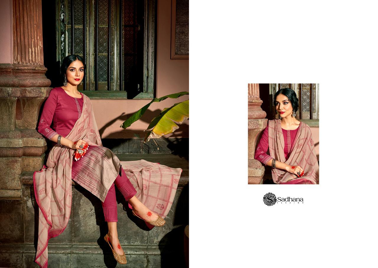 Sadhana Vol 35 With Embroidery Work collection 13
