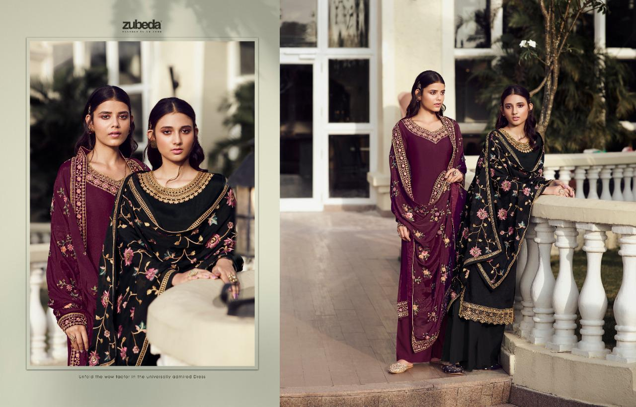 Zubeda Avani Chinon With Embroider collection 8