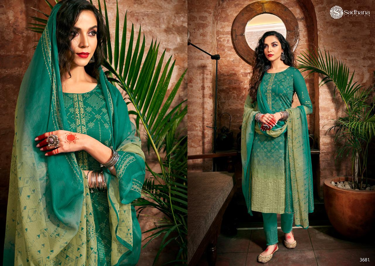 Sadhana Vol 35 With Embroidery Work collection 3