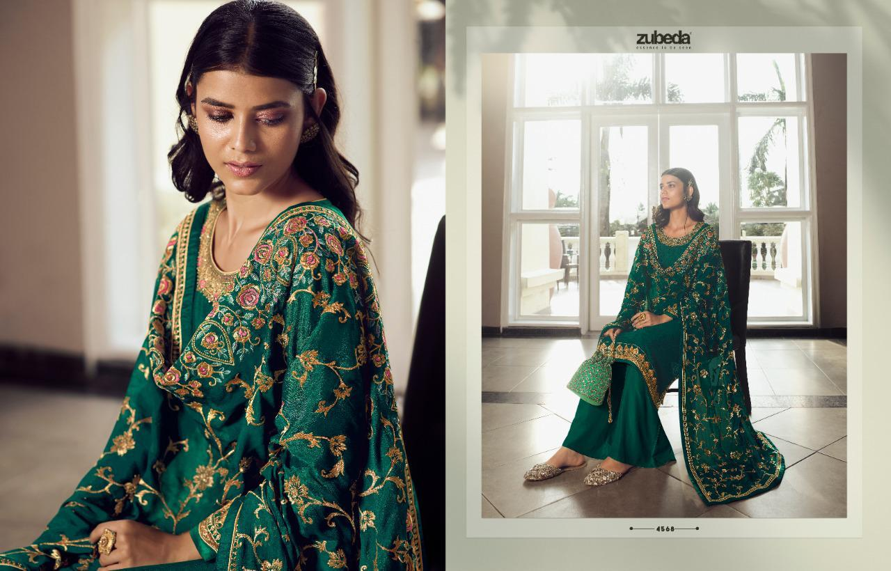 Zubeda Avani Chinon With Embroider collection 2