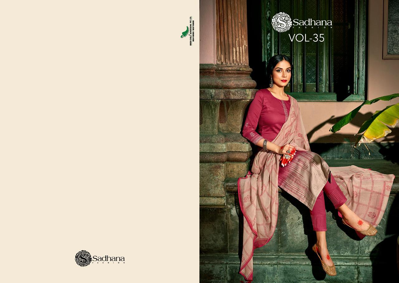 Sadhana Vol 35 With Embroidery Work collection 17