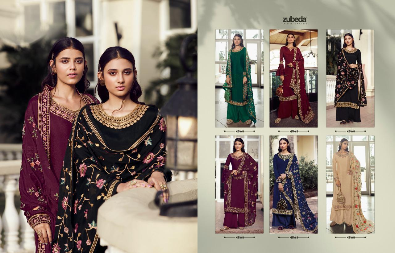 Zubeda Avani Chinon With Embroider collection 5