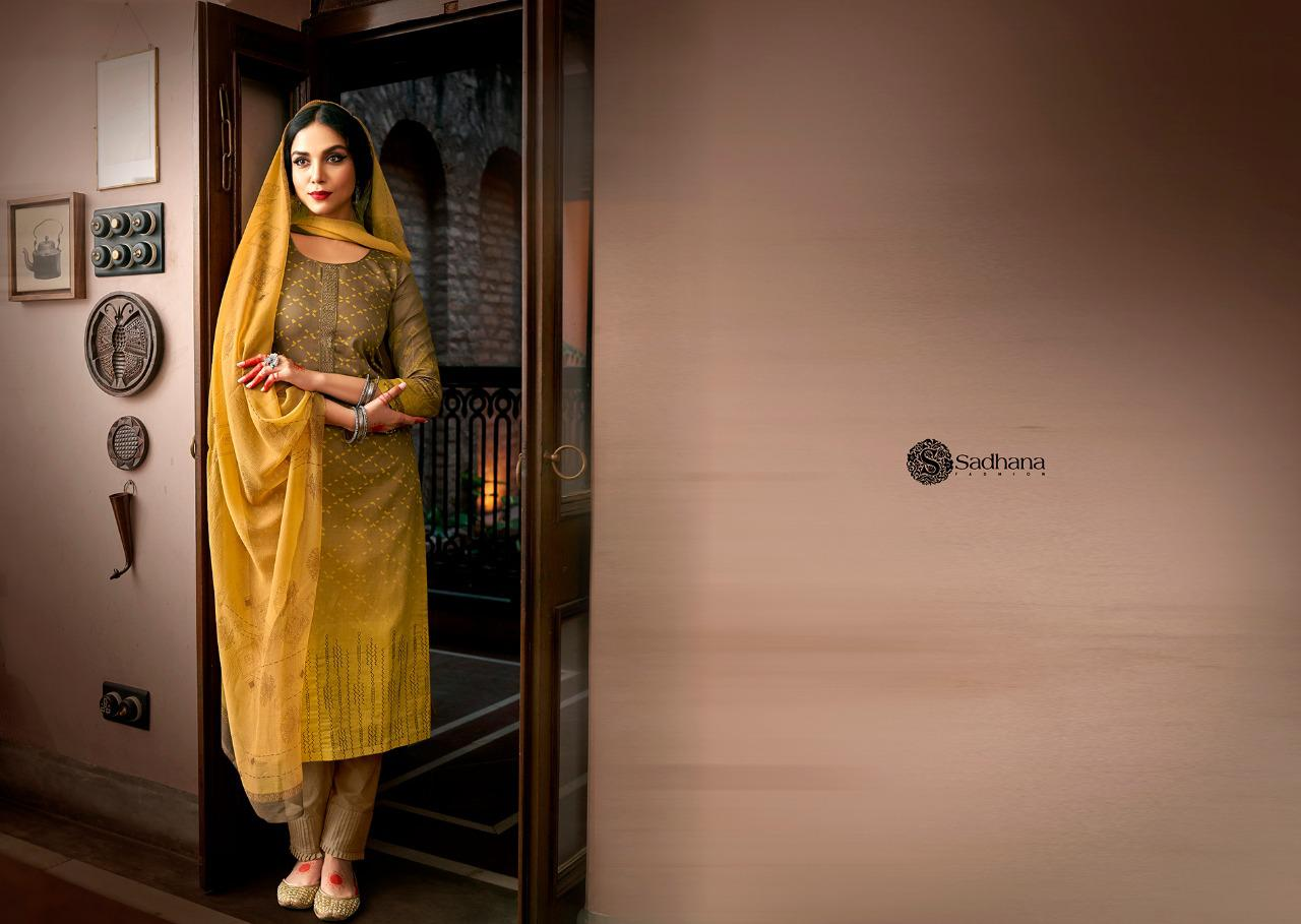 Sadhana Vol 35 With Embroidery Work collection 9