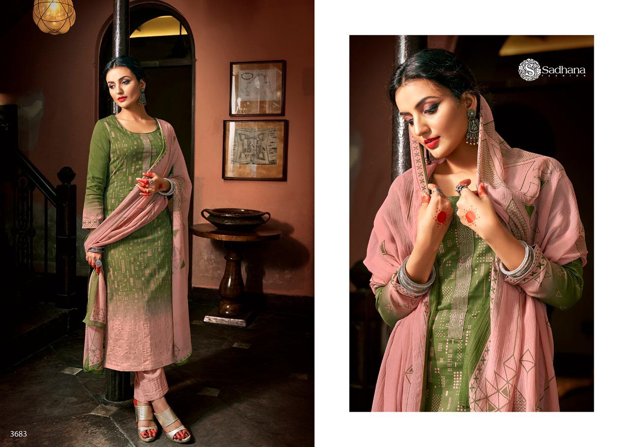 Sadhana Vol 35 With Embroidery Work collection 12